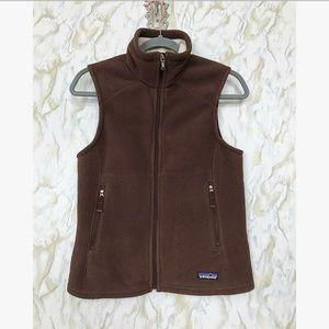 Patagonia small vest brown fleece zipper outdoor